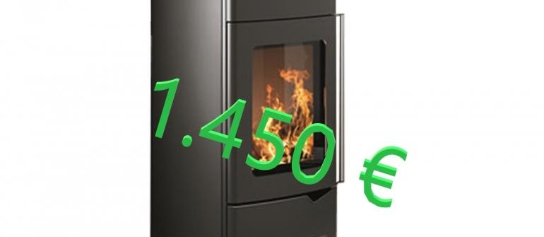 PALAZZETTI STUFA mod. EVA  10 KW  1.450 €